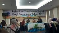 Pelatihan Pemasaran Digital Tunanetra th 2019